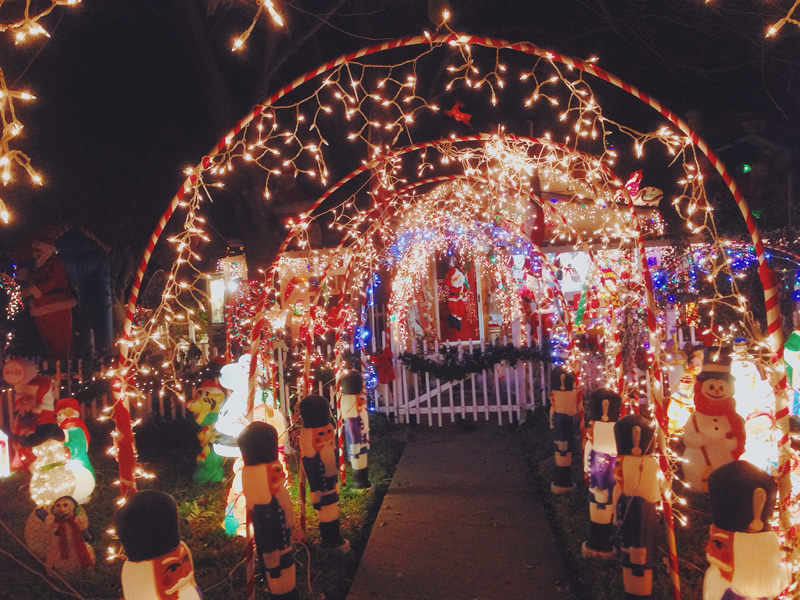 7 Of Wacofork S Favorite Christmas Light Displays In Or